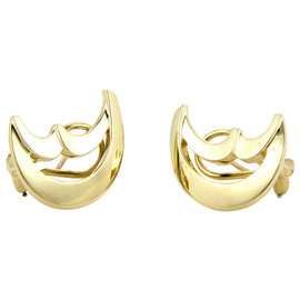 Tiffany & Co. Paloma Picasso 18K Yellow Gold Moon Shaped Earrings
