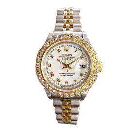Rolex Datejust Yellow Gold Stainless Steel Diamond Watch