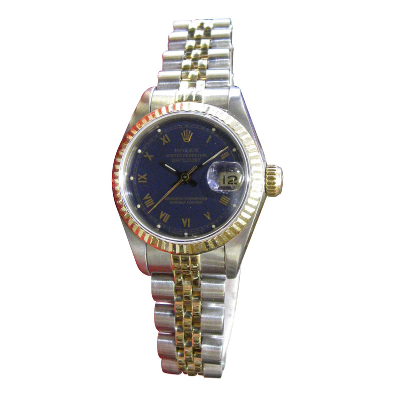 """Image of """"Rolex Oyster Perpetual Datejust Gold Stainless Steel Roman Numerals"""""""