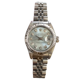 Rolex Oyster Perpetual Datejust Diamond Stainless Steel & White Gold Watch