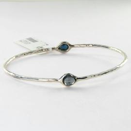 Ippolita Rock Candy 2 Stone Teardrop Bracelet London Blue Topaz