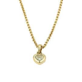 Chopard Happy Diamonds 18K Yellow Gold Heart Pendant Necklace