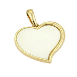 Bulgari Bvlgari 18K Yellow Gold & Mother Of Pearl Heart Pendant