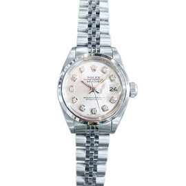 Rolex Oyster Perpetual Datejust 25mm Diamond Stainless Steel Watch