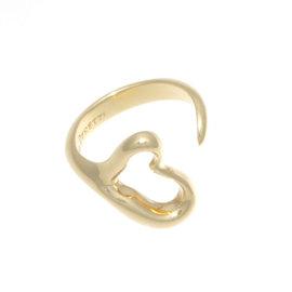 Tiffany & Co. Elsa Peretti Open Heart Ring Size 6.5