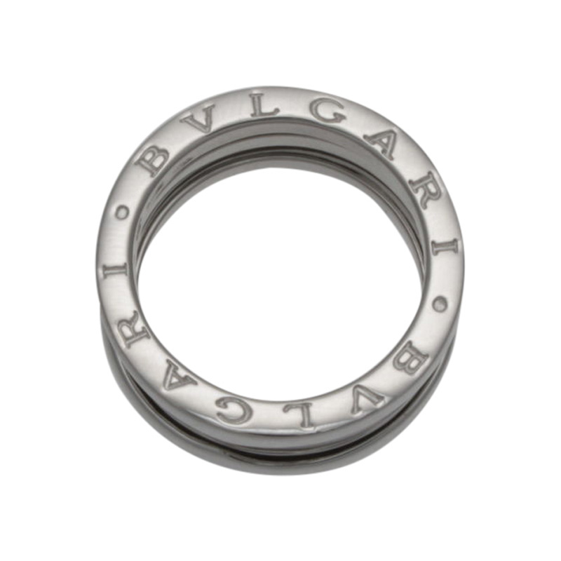"Image of ""Bulgari 18K White Gold B.Zero 3 Row Band"""