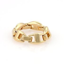 Hermes Chaine d'Ancre Enchainee 18K Yellow Gold Band Ring