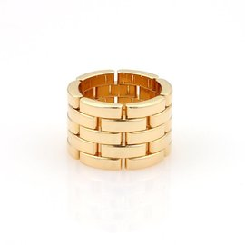 Cartier Maillon Panthere 18k Yellow Gold 5 Rows Band Ring