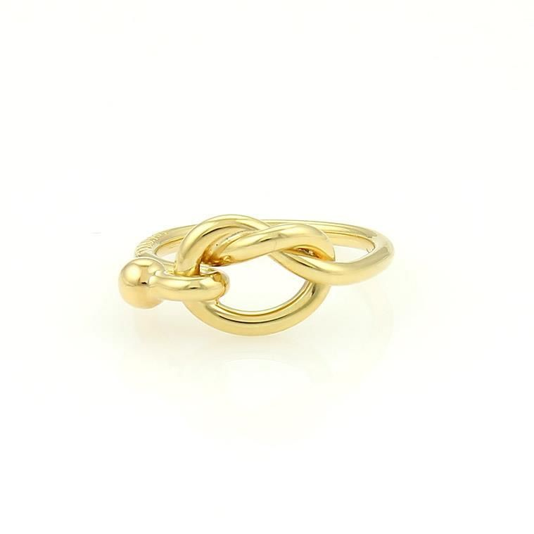 "Image of ""Tiffany & Co. 18k Yellow Gold Hook & Eye Ring"""