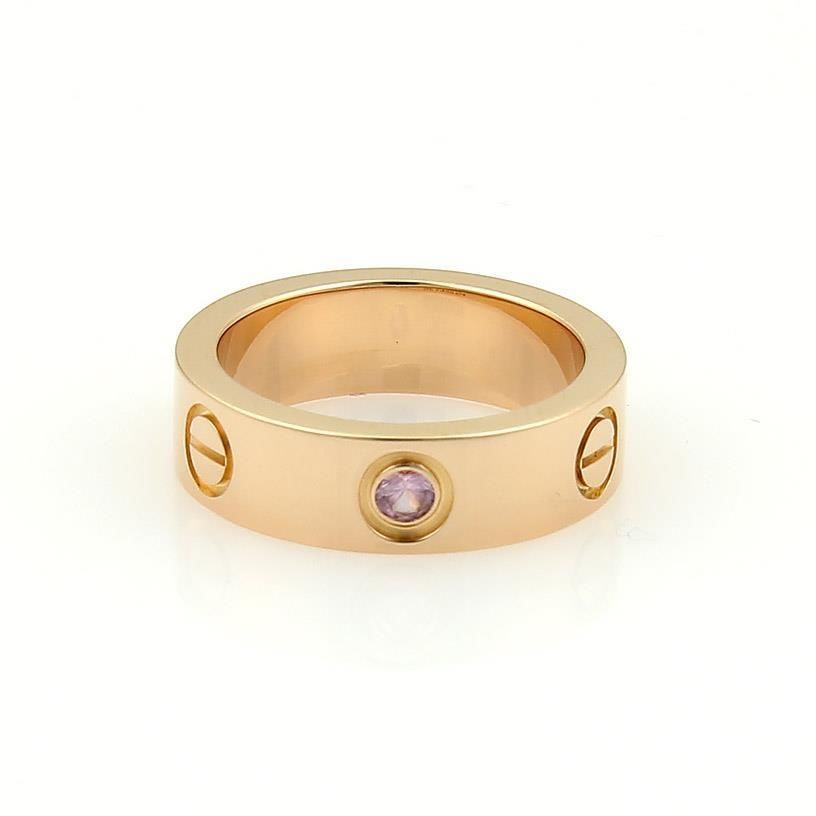 """""""""""Cartier Love Ring Rose Gold Pink Sapphire Size 4.75"""""""""""" 108474"""