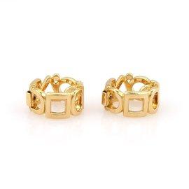 Chanel 18K Yellow Gold Multi Shape Hoop Earrings