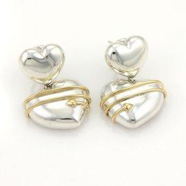 Tiffany & Co. Sterling Silver Arrow Hearts Drop Dangle Earrings