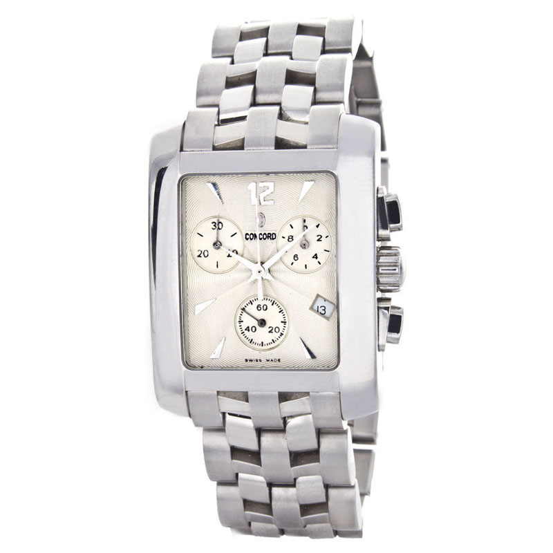 "Image of ""Concord 14.h1.610 Beige Dial Stainless Steel Bracelet Chronograph"""