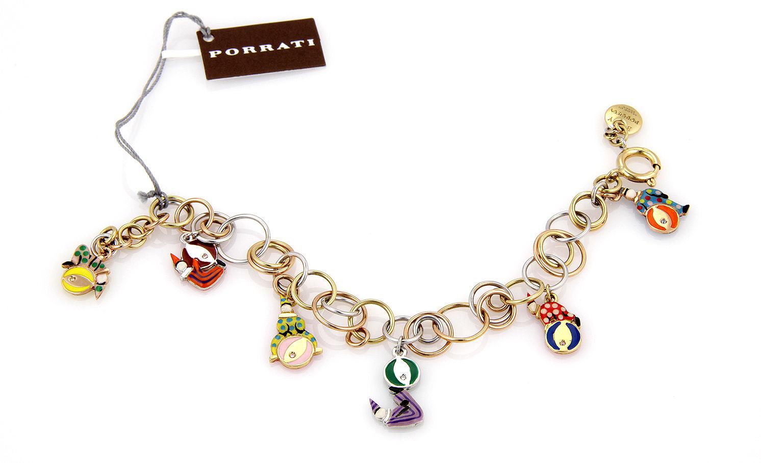 """Image of """"Roberta Porrati 18K Baby Caracol Gold Charm Bracelet"""""""