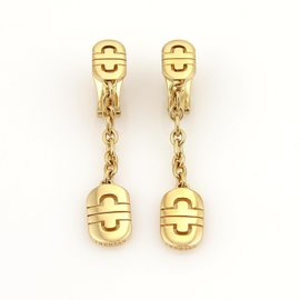 Bvlgari Bulgari Parentesi 18k Yellow Gold Drop Dangle Earrings