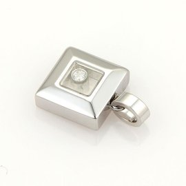 Chopard Diamonds 18k White Gold Diamond Square Pendant