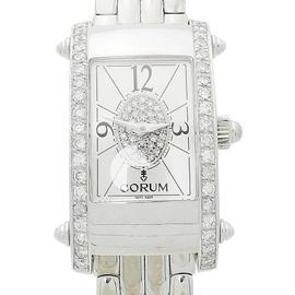 Corum 38.521.69 18K White Gold & Diamond Wrist Watch