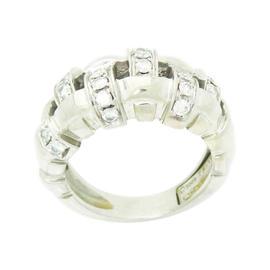 Tiffany & Co. 18K White Gold Diamond Weaved Ring