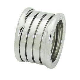 Bulgari 18K White Gold Band Ring Size Small