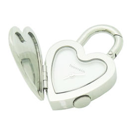 Tiffany & Co Steel Notes Heart Stainless Steel Swiss Made Watch Pendant