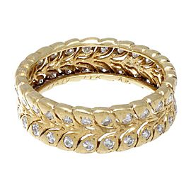 Buccellati 18K Yellow Gold & Diamond Leaf Band