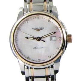 Longines L25635887 Saint Imier 18K Gold Steel MOP Diamond Dial Watch