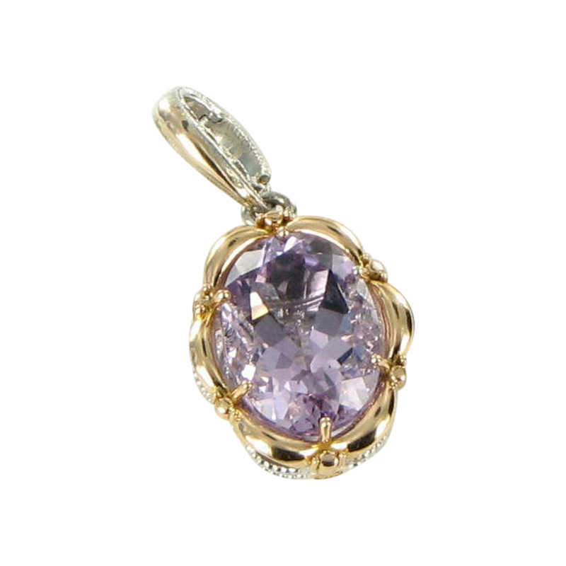 "Image of ""Tacori 18K 925 Sterling Silver Rose Amethyst Pendant"""