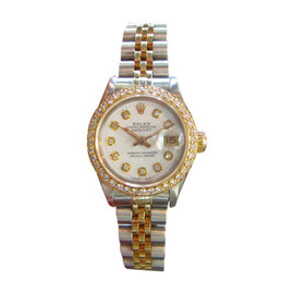Rolex Oyster Perpetual Datejust Diamonds Stainless Steel and Gold Watch