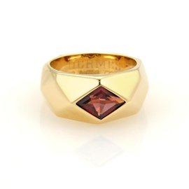 Hermes 18K Yellow Gold Garnet Kaleidascope Ring