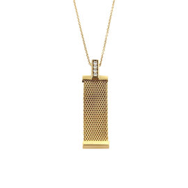 Tiffany & Co. Somerset 18K Yellow Gold Diamonds Mesh Pendant Necklace