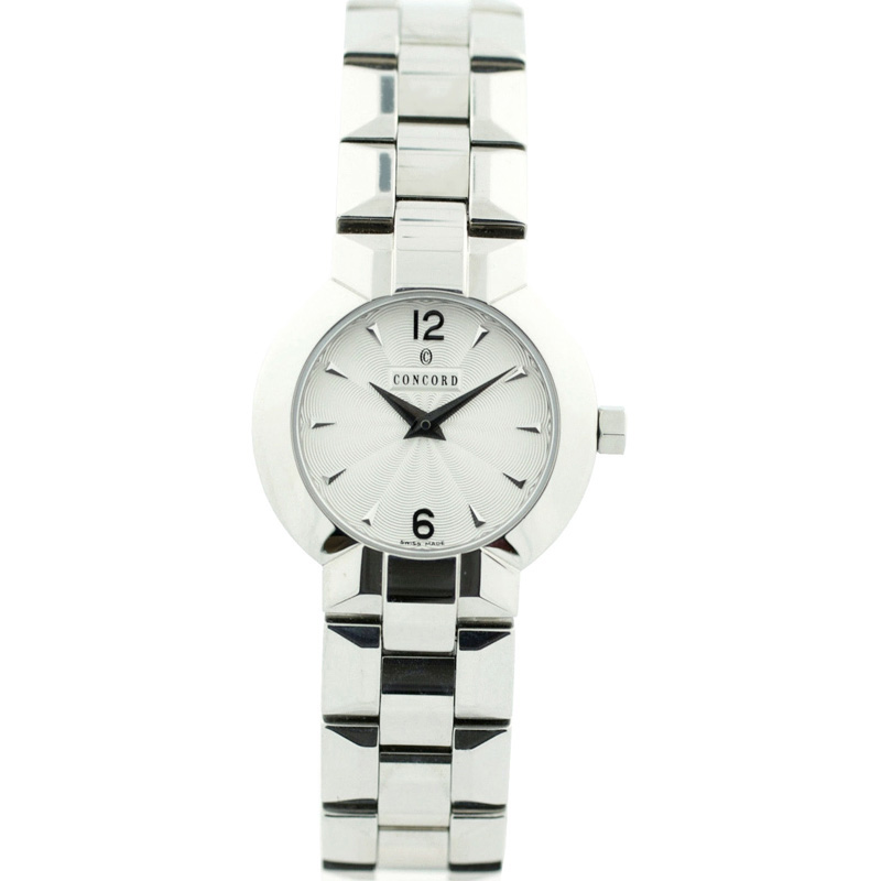 "Image of ""Concord 1069984 Silver Dial Stainless Steel Bracelet Womens Watch"""