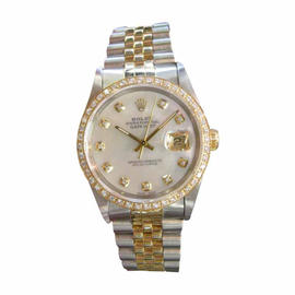 Rolex Oyster Perpetual Datejust Diamonds Yellow Gold and Stainless Steel Mens Watch
