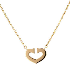 Cartier 18K Yellow Gold Hearts of Cartier Necklace