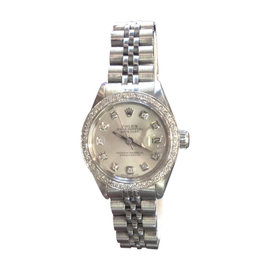Rolex Oyster Perpetual Datejust Diamonds Stainless Steel Watch