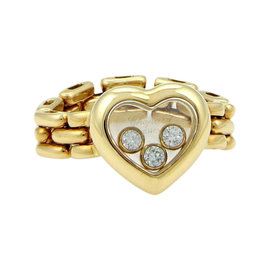 Chopard Happy Diamonds 18k Yellow Gold Heart Flex Ring