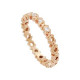Tiffany & Co. Picasso 18K Rose Gold Graffiti Love & Kisses 3 Diamond Ring