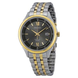 Seiko SKA658 Kinetic Grey Dial Two-Tone Mens Watch