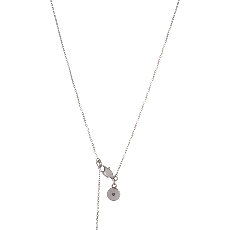 "Image of ""Michael Kors Crystal Pave V Shape Stainless Steel Necklace"""