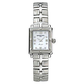 Raymond Weil 9631-ST-00995 Parsifal Stainless Steel Diamonds and Mother of Pearl Dial 25mm Watch