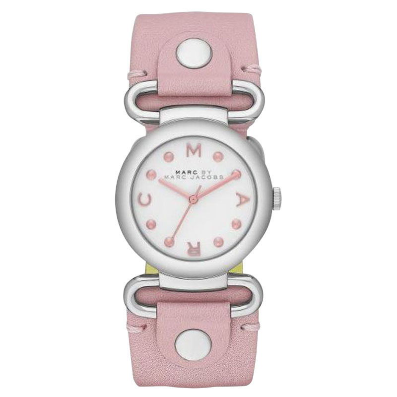 "Image of ""Marc by Marc Jacobs Mbm1305 River Pink Leather Womens Watch"""