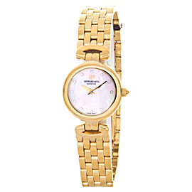 Raymond Weil 5588P Gold Tone Stainless Steel Mother of Pearl Dial 22mm Watch