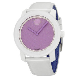 Movado 3600219 Bold Lavender Dial Patent Leather Strap Womens Watch