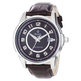 Bulova Precisionist Claremont 96B128 Brown Leather Mens Watch