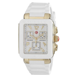 Michele MWW06L000013 Park White Jelly Bean Rectangle Watch