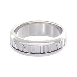 Tiffany & Co. 18K White Gold 750 Band Atlas Ring