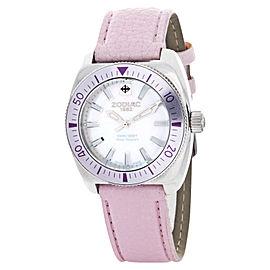 Zodiac ZO4519 MOP Desert Falcon Pink Leather Strap Womens Watch