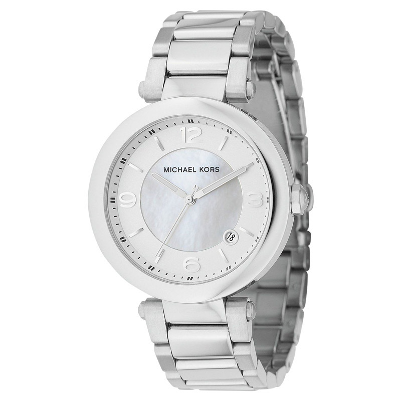 """Image of """"Michael Kors Mk5070 Silver Round 3 Hand Date Watch"""""""