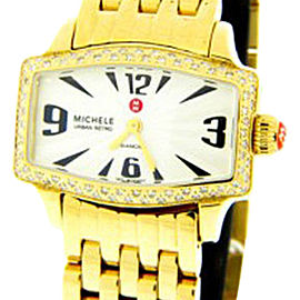 Michele MWW02R000002 Diamond Gold-tone Stainless Steel Watch