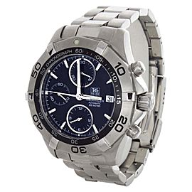 Tag Heuer CAF2112 300M Aquaracer Automatic Chronograph Black Dial Watch