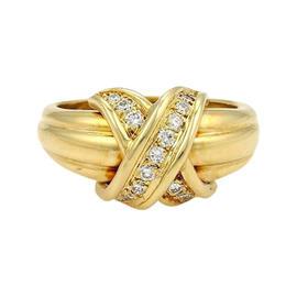 Tiffany & Co.18K Yellow Gold & Diamonds Signature